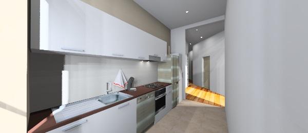 plan 3D de l'aménagement d'une cuisine